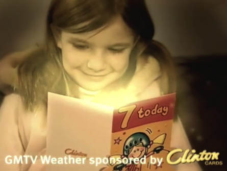 Clinton Cards Weather Ident